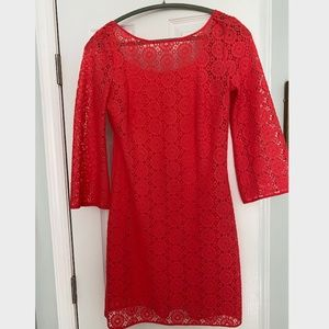 Lilly Pulitzer-Topanga Lace Dress in Island Coral